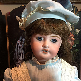 """Beautiful French Bisque Doll-20"""" Tall"""
