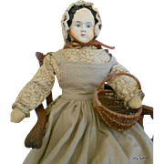"Antique Greiner Paper Mache Doll 28"" Tall"