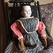 "Gorgeous Antique Adelina Patti china head -27"" tall"