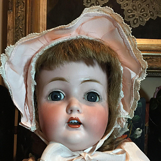 """Sweet German Antique Bisque Doll-25"""" tall"""