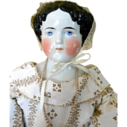 "Huge German China Head Doll -32"" Tall"