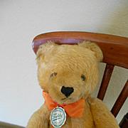 "12"" German Golden Mohair Teddy by Hermann"