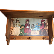 Fabulous Wood Peg Doll Shelf