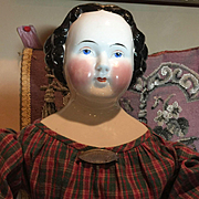 "Early Kestner China Head Doll- 28"" tall- SPECIAL PRICE!!!!"