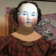 """Early Kestner China Head Doll- 28"""" tall"""
