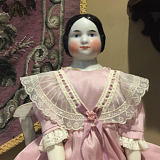 "17"" Antique Kister China Head Doll"