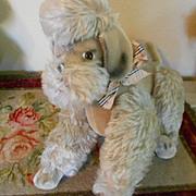 Large Vintage German Mohair Poodle Dog
