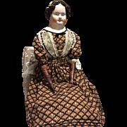 """Large 33"""" Antique Kestner China Head Doll"""