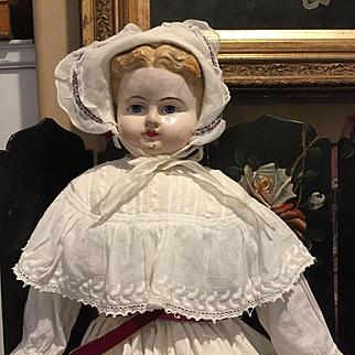 """30"""" Antique Paper Mache Doll"""