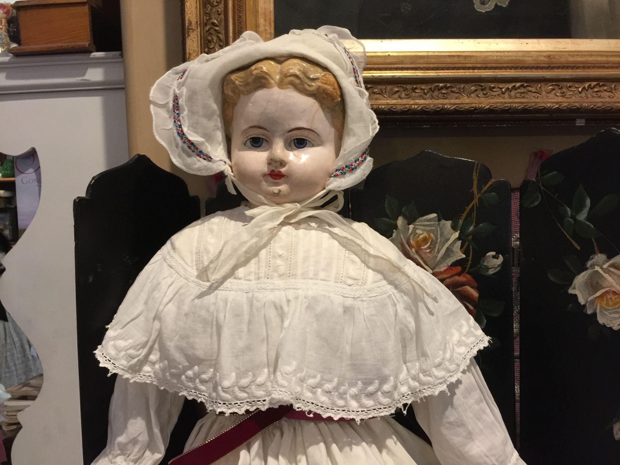 "30"" Antique Paper Mache Doll"
