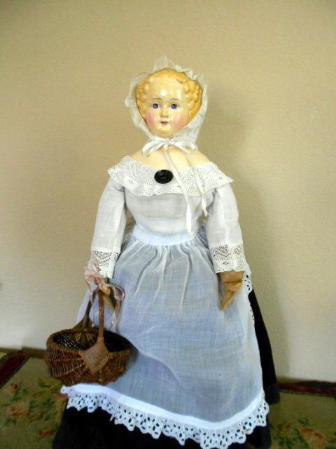 Beautiful German Paper Mache Doll 1870 From Ladysylvia On