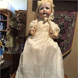 Exquisite Silk Doll Gown and Cape
