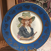 Set Of 2 Cabinet Portrait Plates With Lovely Ladies!