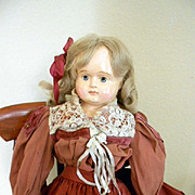 Antique Sonneberg Paper Mache Doll