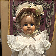 """Sweet Antique Paper Mâché Girl -17"""" Tall- SPECIAL PRICE!!"""