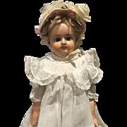 """Sweet Antique Paper Mâché Girl -17"""" Tall"""
