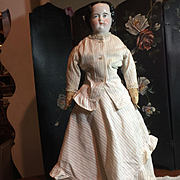 """20"""" Tall Unusual Face China Head Doll-as is!"""
