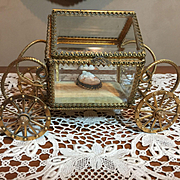 Vintage Glass Jewelry Casket