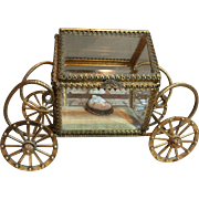 Vintage Glass Jewelry Casket