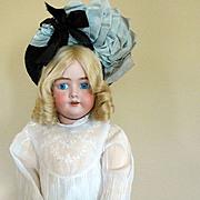 Fabulous Vintage Doll/ Child Bonnet in Black Straw