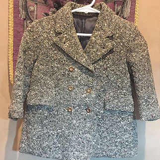Vintage Wool Tweed Child's Coat