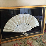 Antique Silk Embroidered Wedding Fan