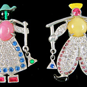 DUTCH Milk Maid and Man Pair of Dress Clips