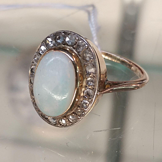 14k/18k/Silver Diamond & Opal Ring