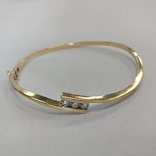 14k Diamond Bypass Bracelet