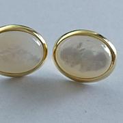 14k Large Mother of Pearl Earrings