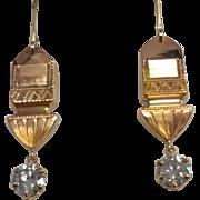 Unique 14k/10k 1.85ctw Diamond Drop Earrings
