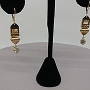 14k/10k 1.85ct. Diamond Drop Earings