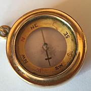 14k Compass Watch Fob