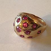 14k Ruby Star Ring