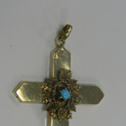 18k Persian Turquoise Cross