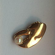 14k Lobster Claw with Pearl Pendant