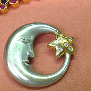 14k Diamond Man In The Moon Pendant
