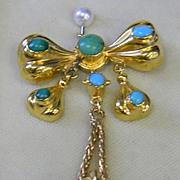 18k Persian Turquoise Memorium Pendant