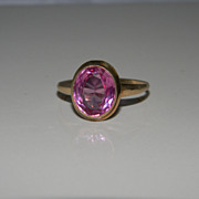 Sweet 10K Gold Pinkish Purple Ring