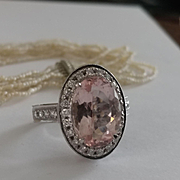 18k Kaya Large Pink Tourmaline and Diamond Ring
