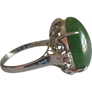 Platinum Jade Ring