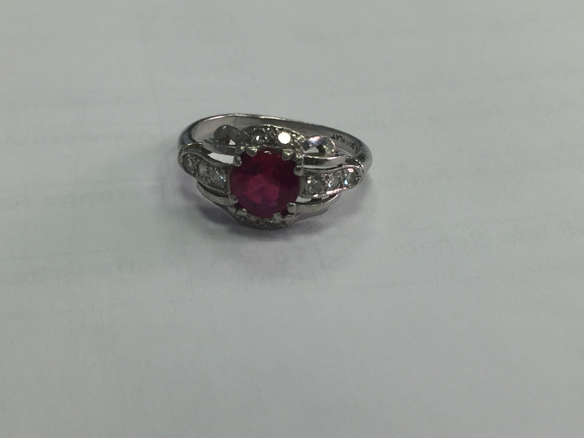 platinum ruby and ring from smallfinds rl on ruby