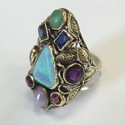 14k Large Gemstone Ring