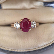 14k Ruby Diamond Ring