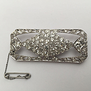 8ctw Deco Platinum Diamond Brooch