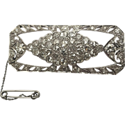 8ctw Deco Platinum Diamond Brooch