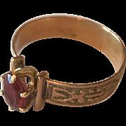 Antique 10k Garnet Ring