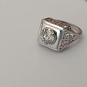 Platinum 1.5 carat Solitaire Ring