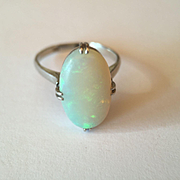 Antique Platinum Opal Ring