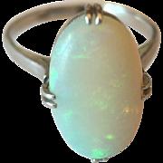 Antique Platinum Opal Ring